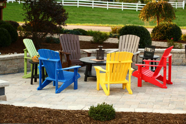 Deluxe Adirondack Chairs & Deluxe Conversation Table