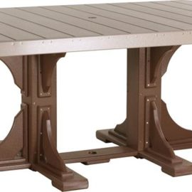 Rectangular Dining Table - Weatherwood/Chestnut Brown