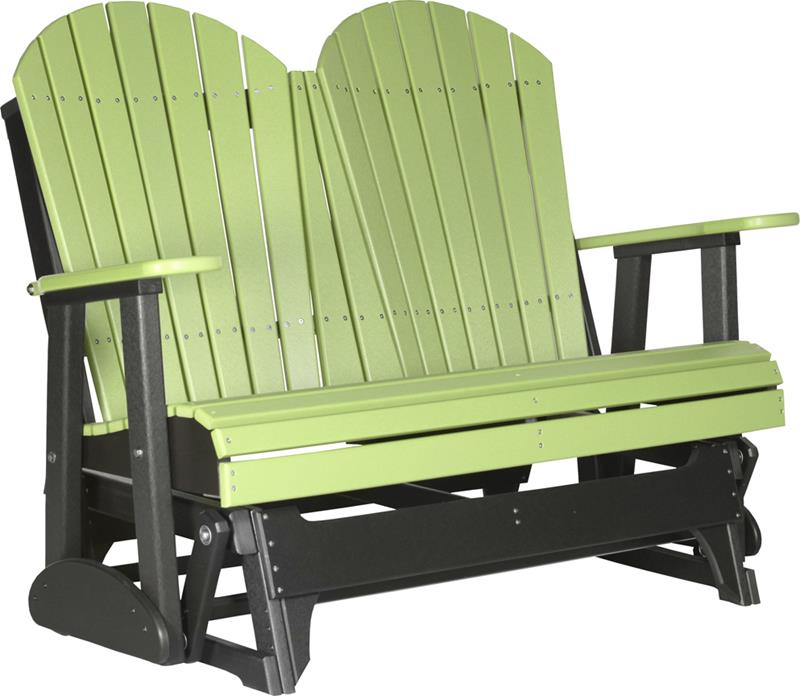 Double adirondack glider patio furniture fine oak things - Luxcraft fine outdoor furniture ...