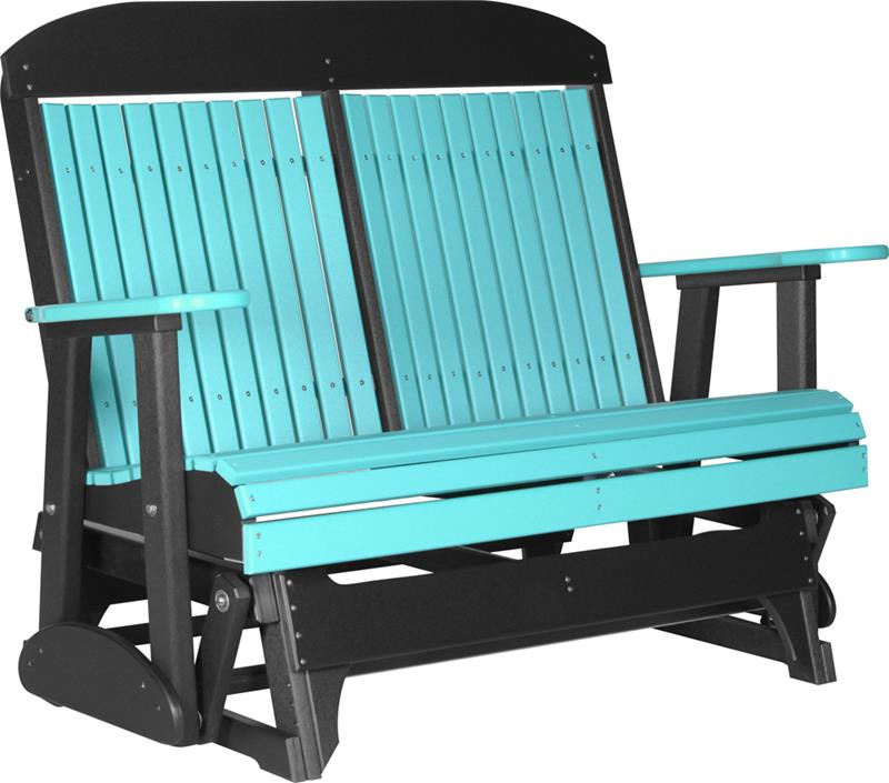 Double classic glider patio furniture fine oak things - Luxcraft fine outdoor furniture ...