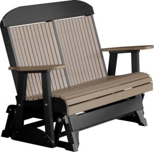 Double Classic Glider - Weatherwood/Black