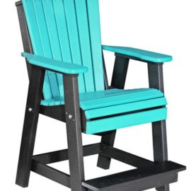 Adirondack Balcony Chair - Aruba Blue/Black