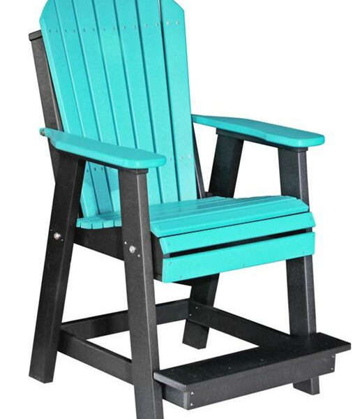 Adirondack Balcony Chair - Aruba Blue/Black