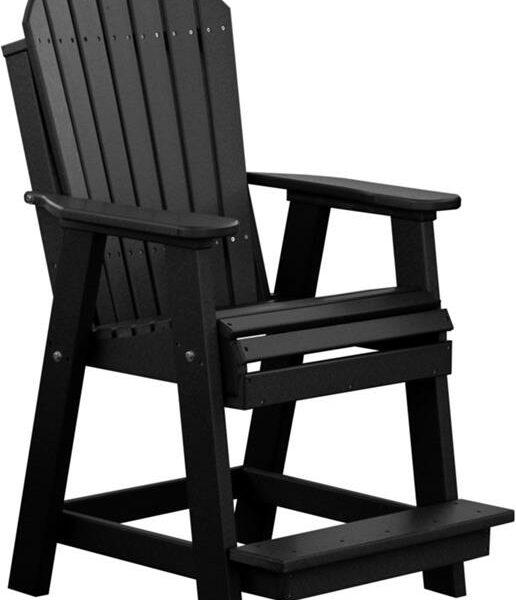 Adirondack Balcony Chair - Black