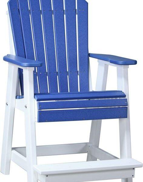 Adirondack Balcony Chair - Blue/White