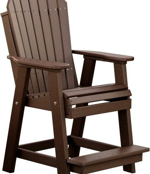 Adirondack Balcony Chair - Brown
