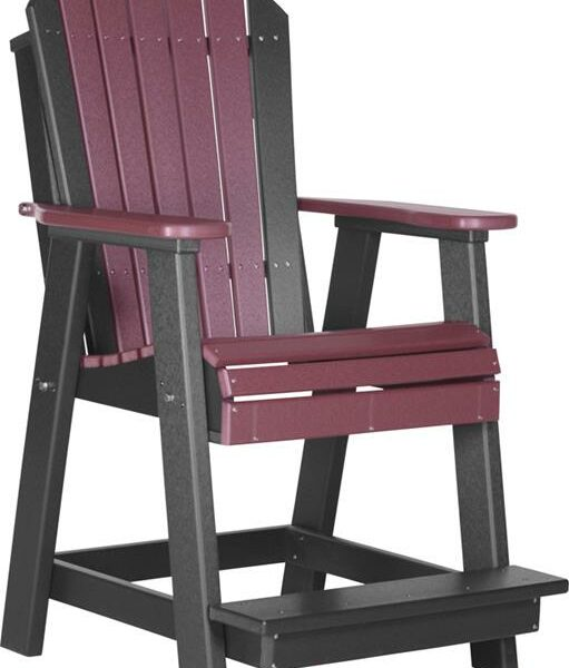 Adirondack Balcony Chair - Cherry/Black