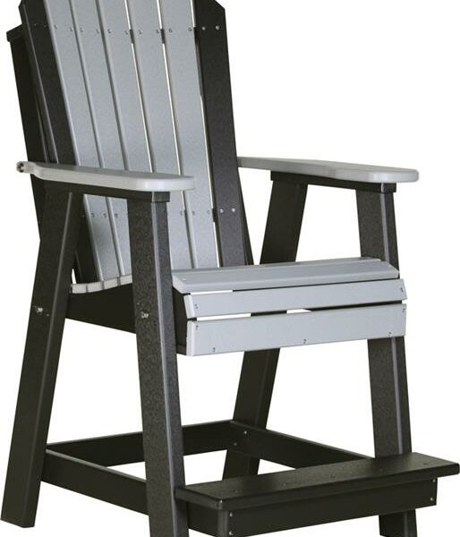 Adirondack Balcony Chair - Dove Grey/Black
