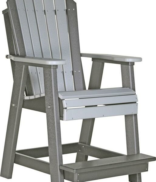 Adirondack Balcony Chair - Dove Grey/Slate