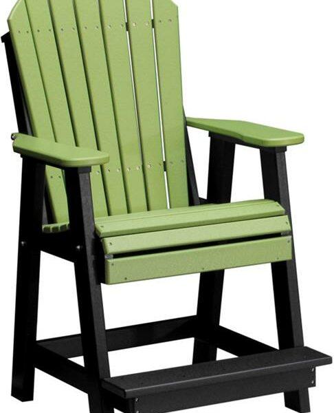Adirondack Balcony Chair - Lime Green/Black