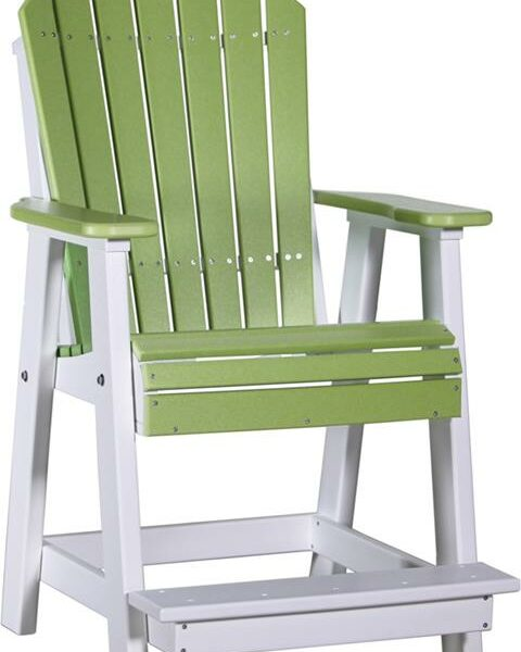 Adirondack Balcony Chair - Lime Green/White