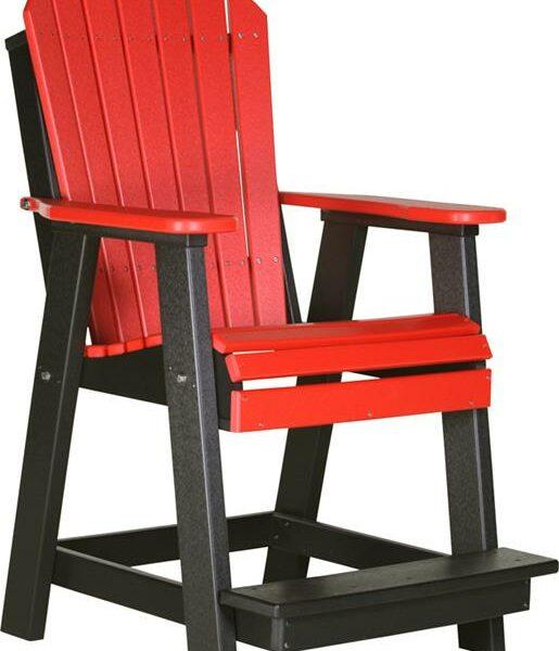 Adirondack Balcony Chair - Red/Black