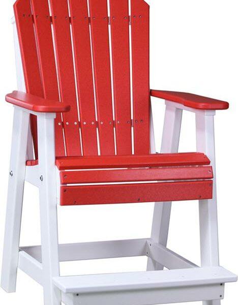 Adirondack Balcony Chair - Red/White