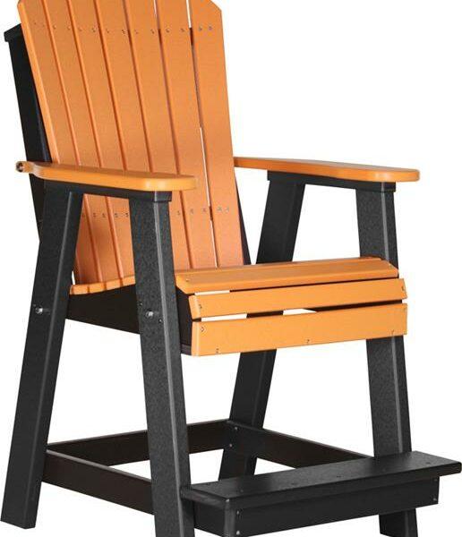 Adirondack Balcony Chair - Tangerine/Black