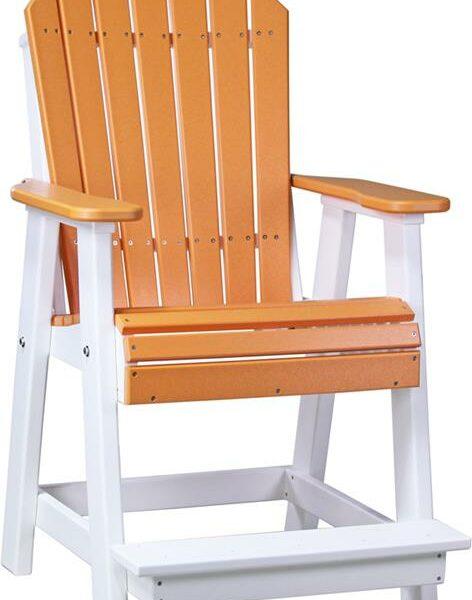 Adirondack Balcony Chair - Tangerine/White