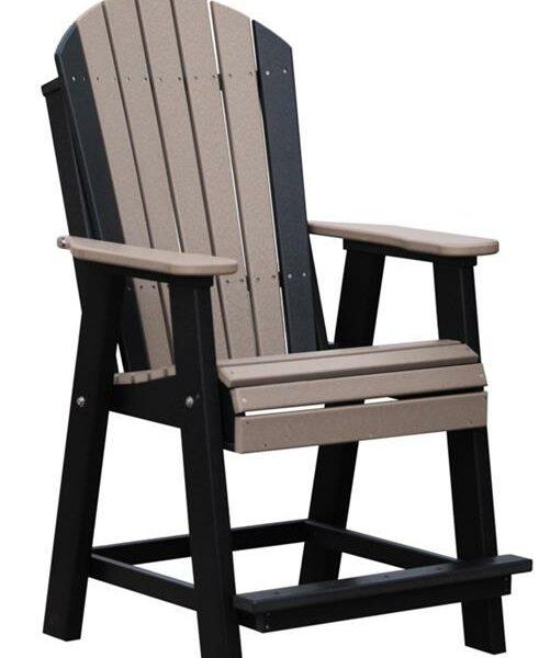 Adirondack Balcony Chair - Weatherwood/Black