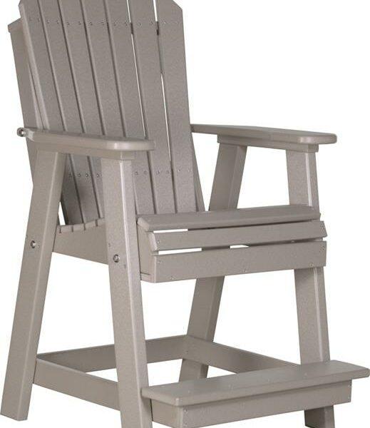 Adirondack Balcony Chair - Weatherwood