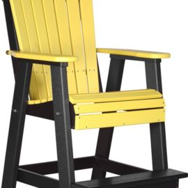 Adirondack Balcony Chair - Yellow/Black