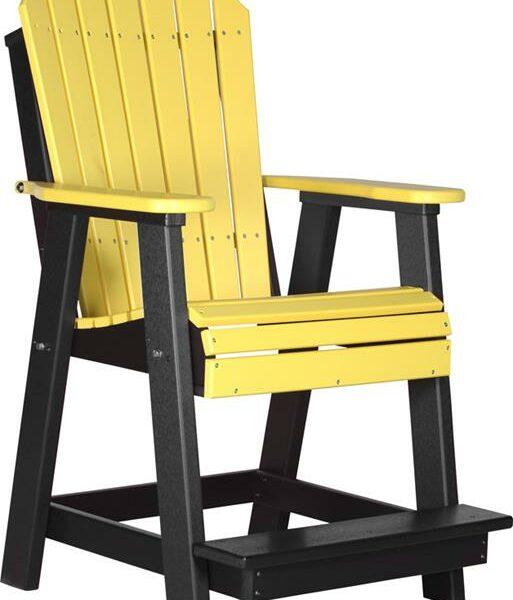 Adirondack Balcony Chair - Yellow/Black