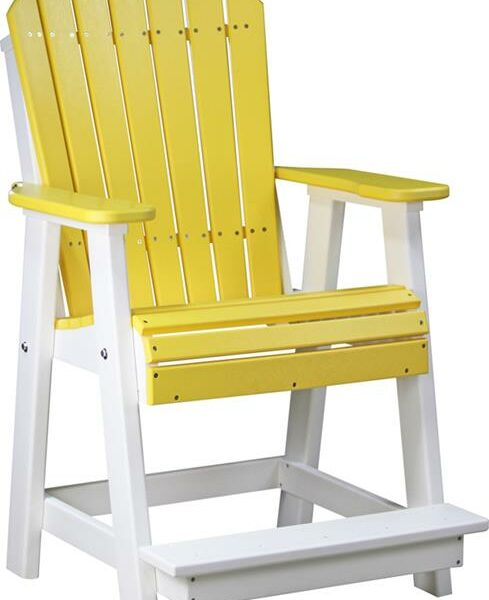 Adirondack Balcony Chair - Yellow/White