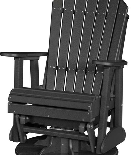 Adirondack Swivel Glider - Black