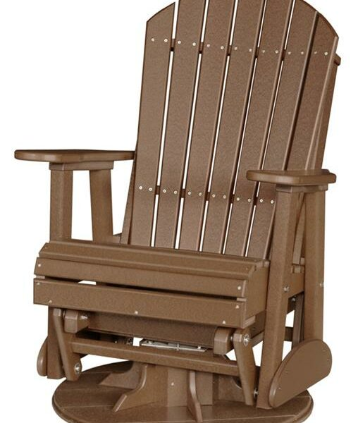 Adirondack Swivel Glider - Brown
