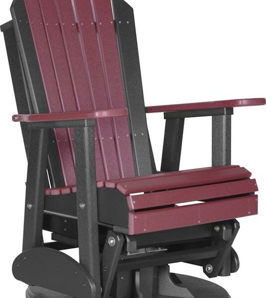 Adirondack Swivel Glider - Cherry/Black