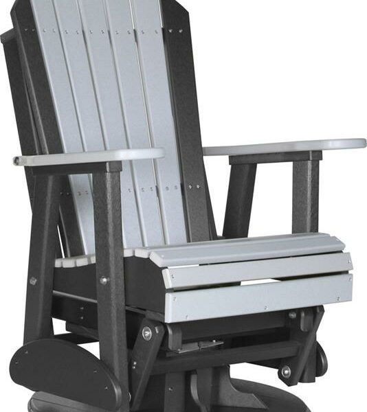 Adirondack Swivel Glider - Dove Grey/Black