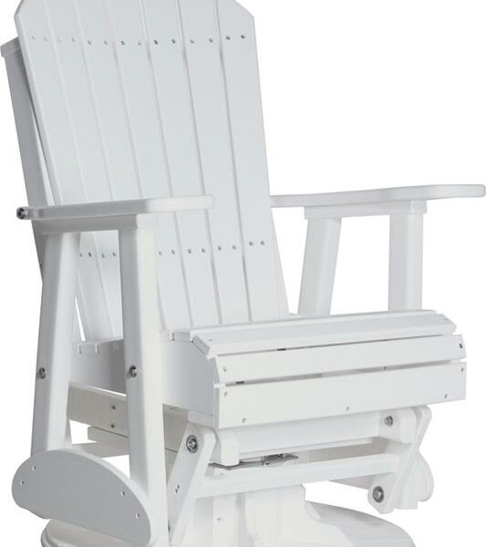 Adirondack Swivel Glider - White