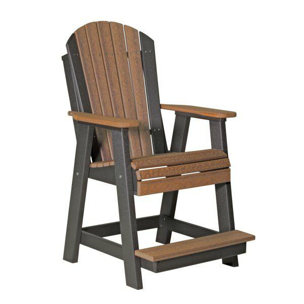 Adirondack Balcony Chair - Antique Mahogany & Black