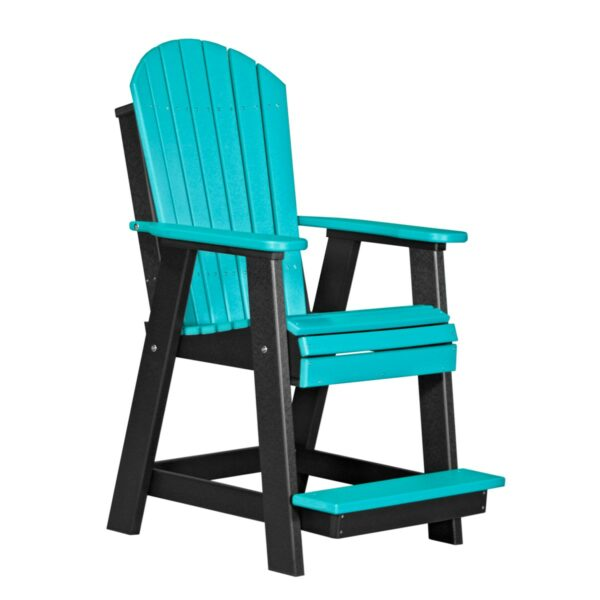 Adirondack Balcony Chair - Aruba Blue & Black