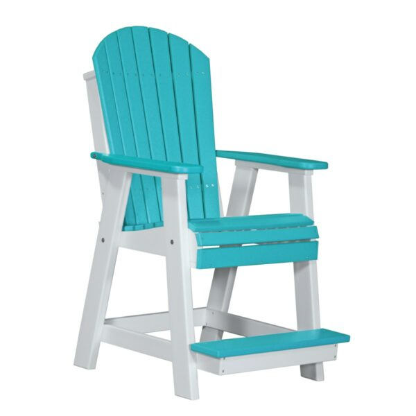 Adirondack Balcony Chair - Aruba Blue & White