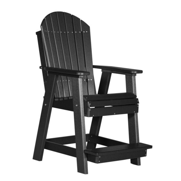 Adirondack Balcony Chair - Black