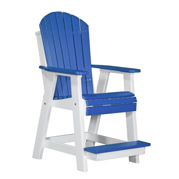 Adirondack Balcony Chair - Blue & White