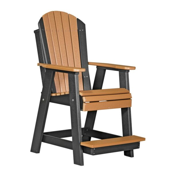 Adirondack Balcony Chair - Cedar & Black