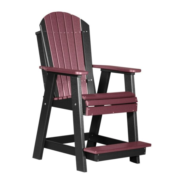 Adirondack Balcony Chair - Cherry & Black