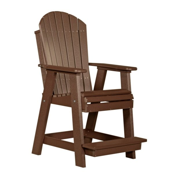 Adirondack Balcony Chair - Chestnut Brown