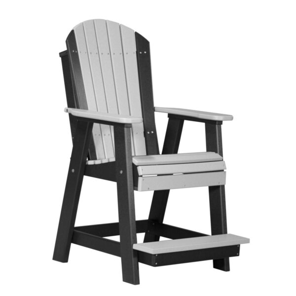 Adirondack Balcony Chair - Dove Gray & Black