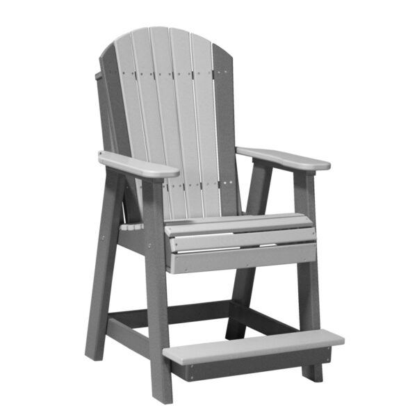 Adirondack Balcony Chair - Dove Gray & Slate