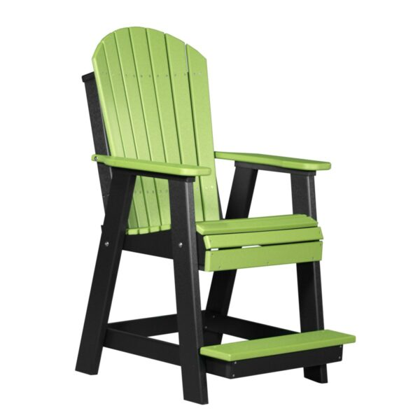 Adirondack Balcony Chair - Lime Green & Black