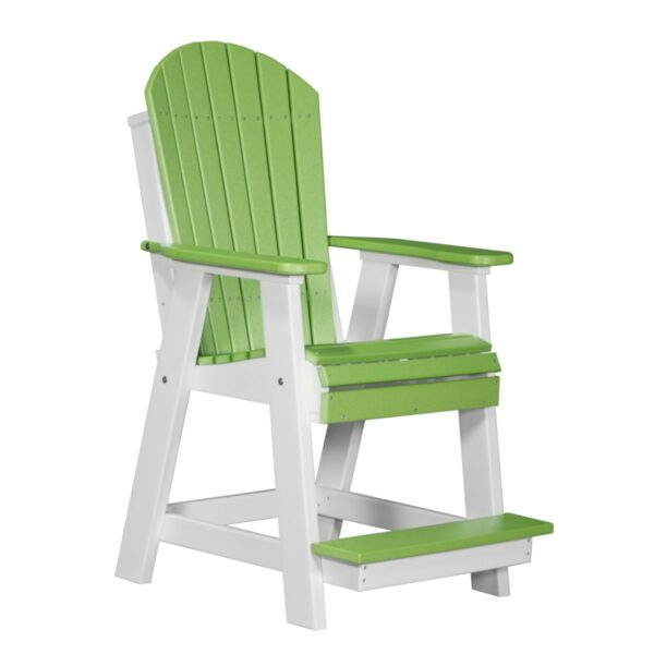 Adirondack Balcony Chair - Lime Green & White