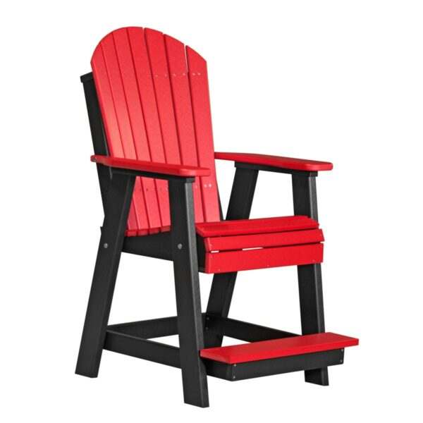 Adirondack Balcony Chair - Red & Black