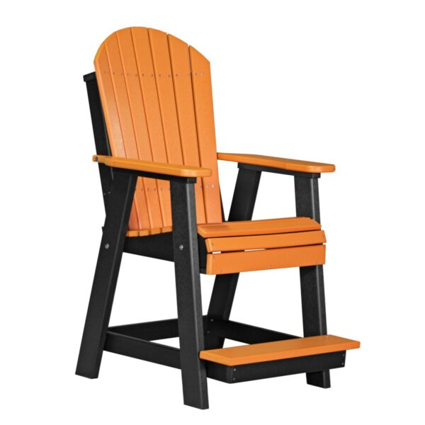 Adirondack Balcony Chair - Tangerine & Black