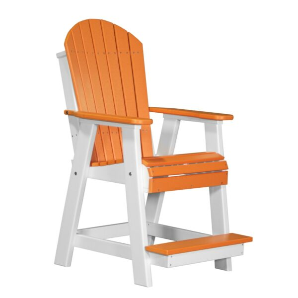Adirondack Balcony Chair - Tangerine & White
