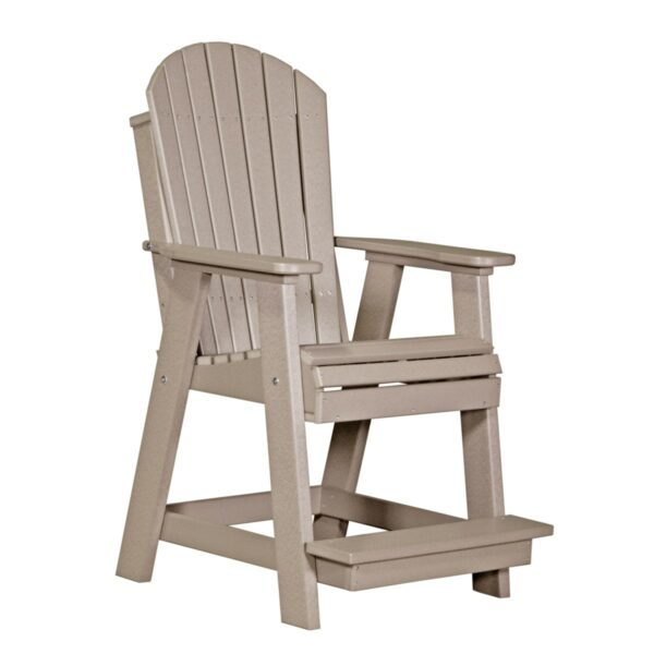 Adirondack Balcony Chair - Weatherwood
