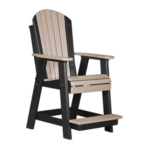 Adirondack Balcony Chair - Weatherwood & Black