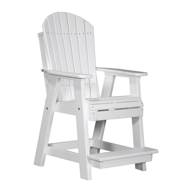 Adirondack Balcony Chair - White