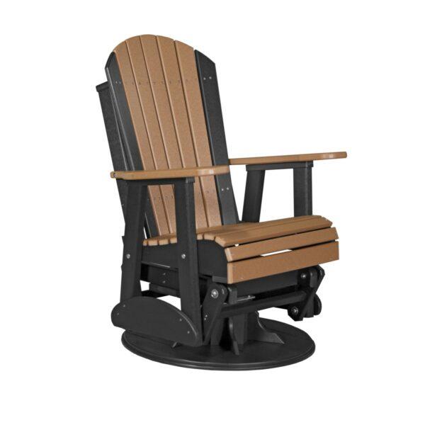 Adirondack Swivel Glider - Cedar & Black