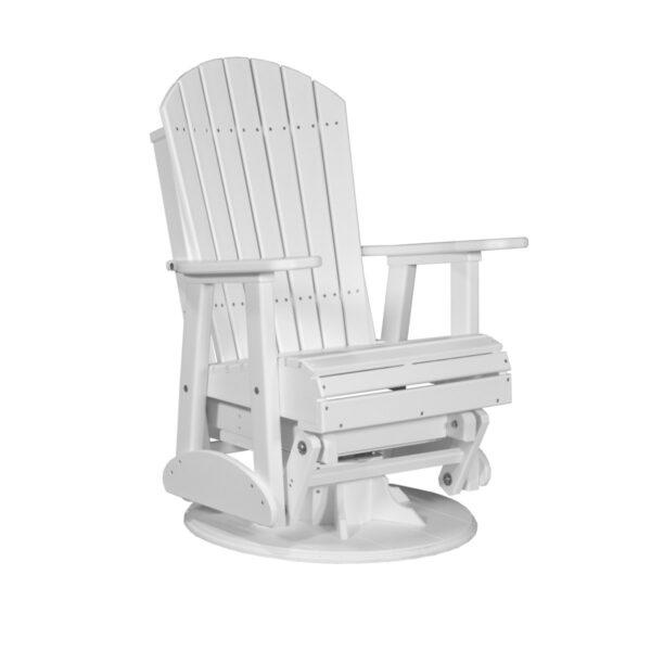 Adirondack Swivel Glider - White