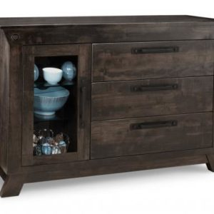 Algoma 3-Drawer 1-Glass Door Sideboard